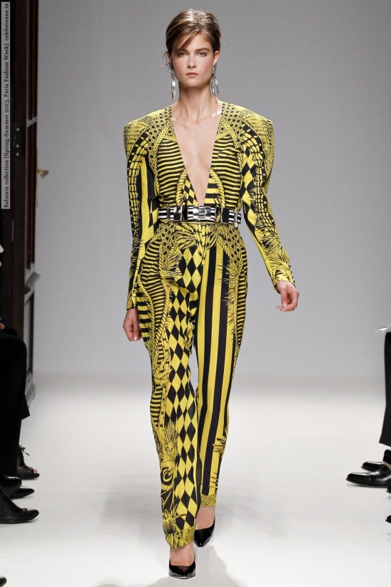 Balmain collection (Spring-Summer 2013, Paris Fashion Week)