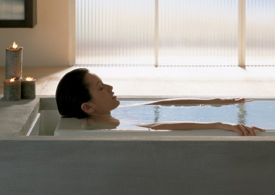 Tinas De Baño De Concreto:Baño de Tina- Piel Saludable- Agua Oxigenada