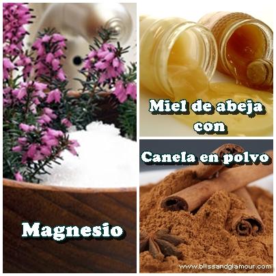 Magnesio, miel de abeja y canela